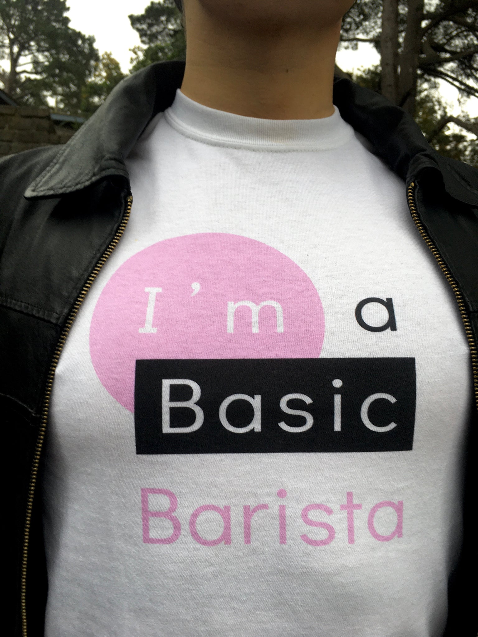 Unisex Basic Barista Cotton Tee Design