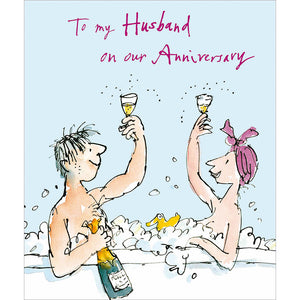 To My Husband on our Anniversary - The Alresford Gift Shop