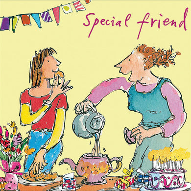 Special friend pours tea - The Alresford Gift Shop
