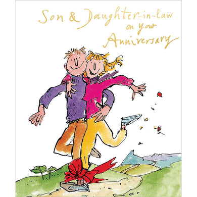 Son and Daughter in law on your anniversary Quentin Blake - The Alresford Gift Shop