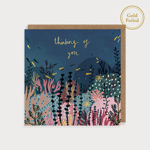 Thinking of you - Louise Mulgrew foiled card