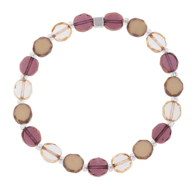 Bohemian in Mulberry- Czech Glass Bracelet - The Alresford Gift Shop