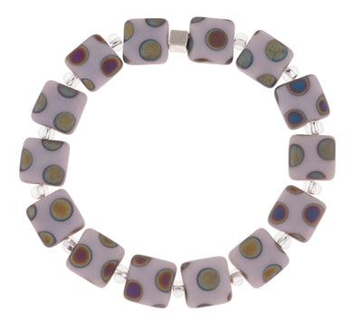 Lilac dotty bracelet - The Alresford Gift Shop