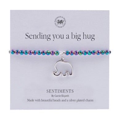 Sentiment bracelet -  Sending you a big hug - The Alresford Gift Shop
