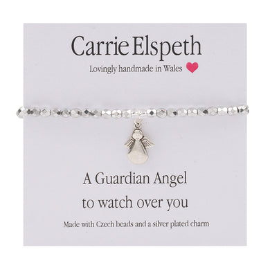Sentiment bracelet -  A guardian Angel to watch over you - The Alresford Gift Shop