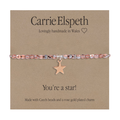 Sentiment bracelet -  You're a star - The Alresford Gift Shop
