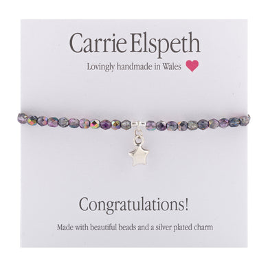 Sentiment bracelet -  Congratulations! - The Alresford Gift Shop