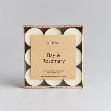 St. Eval Bay & Rosemary Tealights ( delivered from Monday 15th Feb) - The Alresford Gift Shop