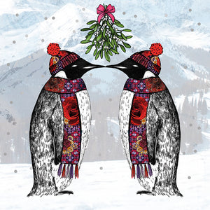 Matthew Williamson - 5 Christmas Card Pack - Penguins