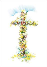 Single Easter card - Easter Cross