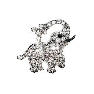 Sparkly elephant brooch