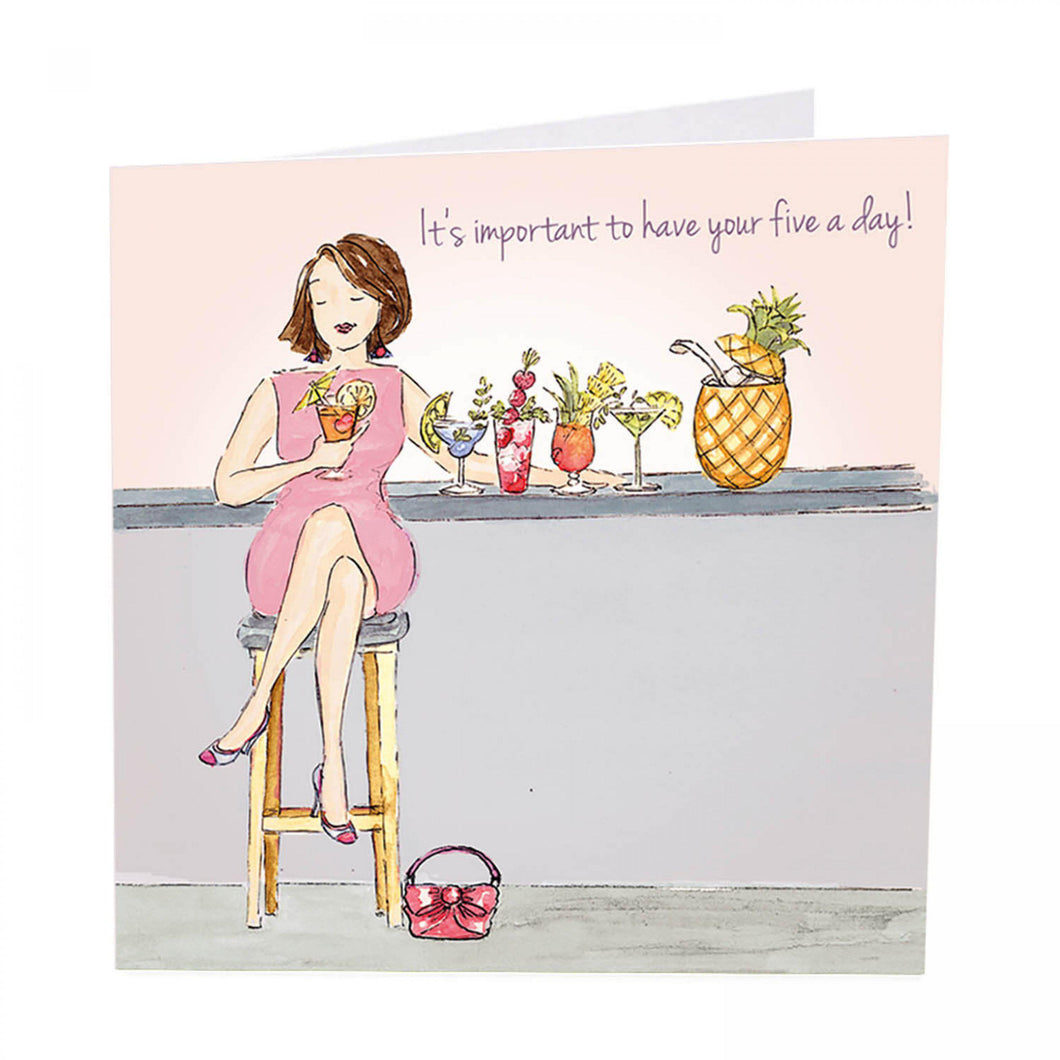 It's important to have your five a day! -greeting card