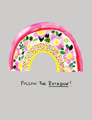 follow the rainbow greetings card