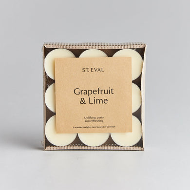 St. Eval Grapefruit & Lime Tealights ( delivered from Monday 15th Feb) - The Alresford Gift Shop