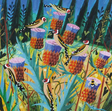 Goldfinches and Thistles by Mary Sumner - The Alresford Gift Shop