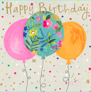 Happy birthday balloons greettings card