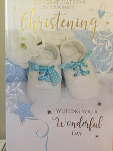 Boy  - Congratulations on your Babys Christening - The Alresford Gift Shop