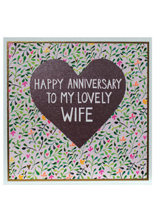 Happy Anniversary to my lovely Wife - The Alresford Gift Shop