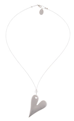 Silver Plated Greek Heart Necklace - The Alresford Gift Shop