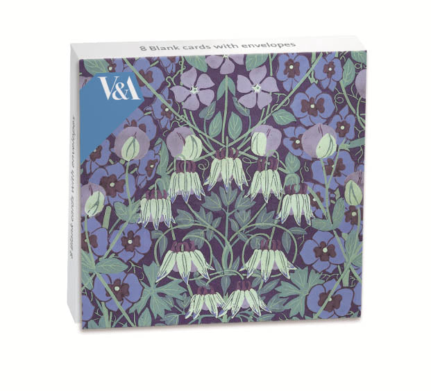 Blank notelet pack - columbine wallpaper pattern - The Alresford Gift Shop