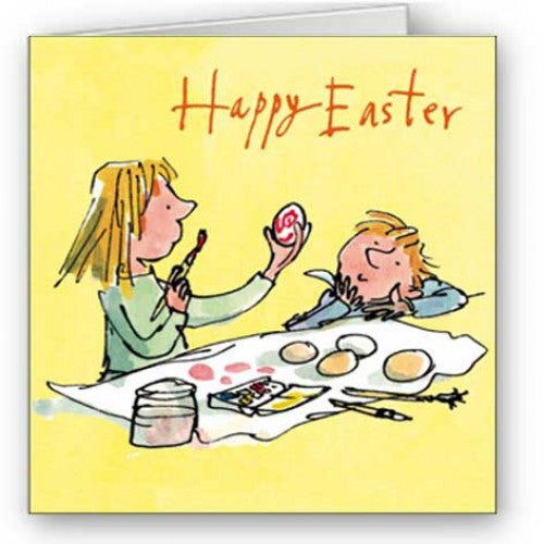 Single Easter card - Happy Easter ( Quentin Blake)