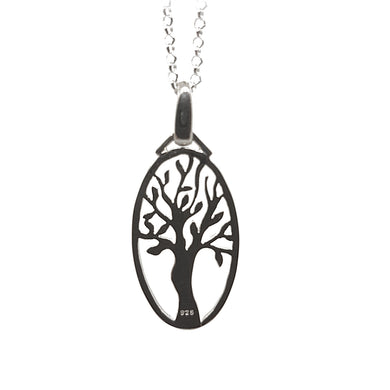 Sterling silver oval tree of life - The Alresford Gift Shop