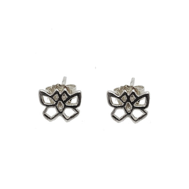 Small silver butterfly studs - The Alresford Gift Shop