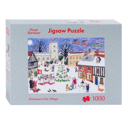 Christmas in the village jigsaw puzzle 1000 piece by Alison Gardiner