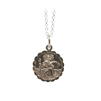 Sterling silver St Christopher - The Alresford Gift Shop