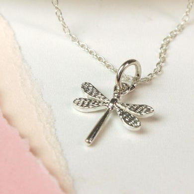 Sterling Silver Dragonfly Necklace - The Alresford Gift Shop