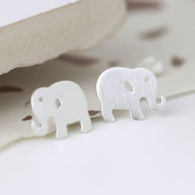 Sterling silver elephant earrings - The Alresford Gift Shop
