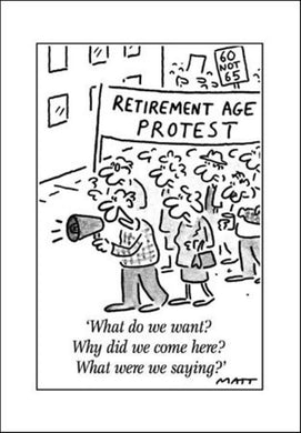 Retirement Age Protest - The Alresford Gift Shop