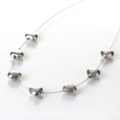 Brushed silver hearts - The Alresford Gift Shop