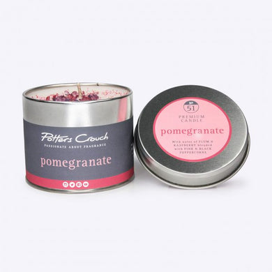 Pomegranate Candle in a Tin - The Alresford Gift Shop