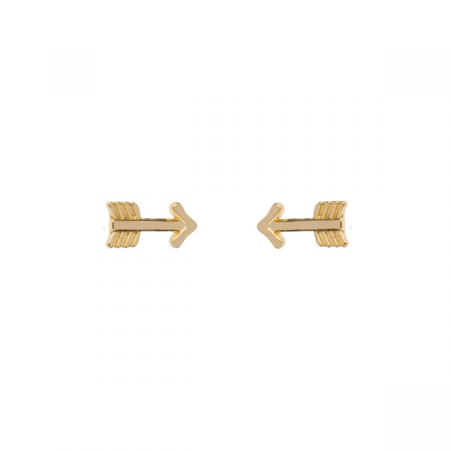 Gold plated arrows small stud earrings