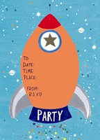 Rocket Children's Party Invite - The Alresford Gift Shop