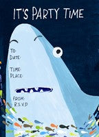 Shark Children's Party Invite - The Alresford Gift Shop