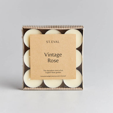 St. Eval Vintage Rose Tealights - The Alresford Gift Shop