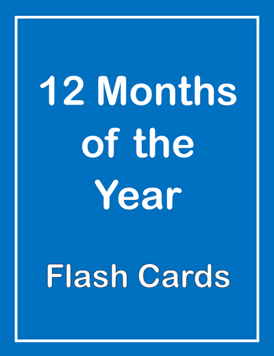 Months of the Year ESL Flash Cards