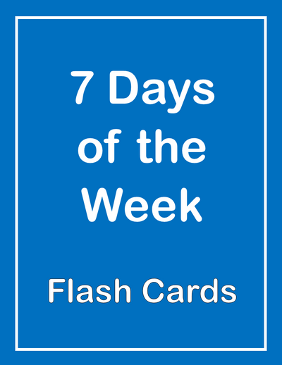 Days of the Week ESL Flash Cards