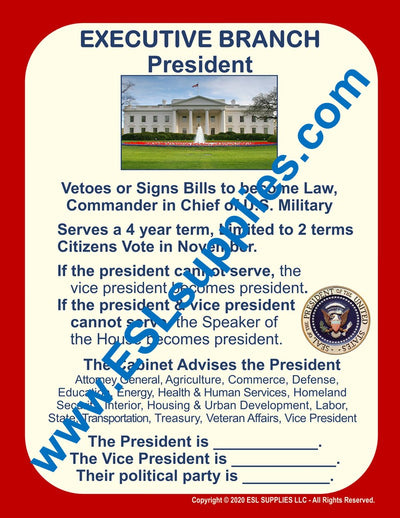 Executive Branch Citizenship Poster