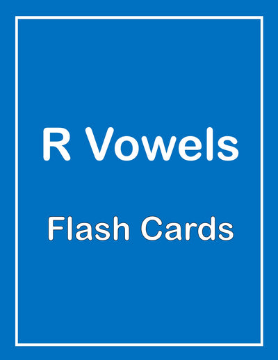R Vowels ESL Flash Cards
