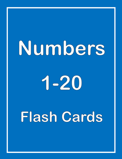 Numbers 1-20 ESL Flash Cards