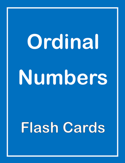 Ordinal Numbers ESL Flash Cards