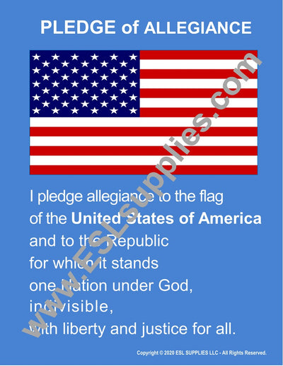 Pledge of Allegiance Citizenship Poster