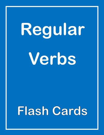 Regular Verbs ESL Flash Cards