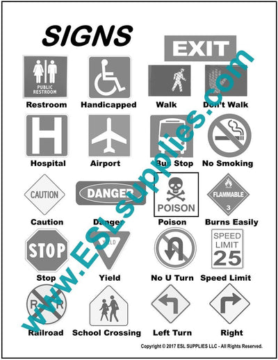 Signs ESL Poster Download