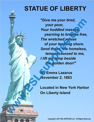 Statue of Liberty Citizenship Poster