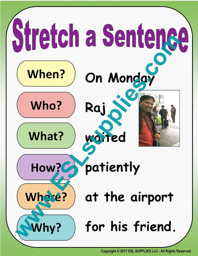 Stretch a Sentence ESL Poster