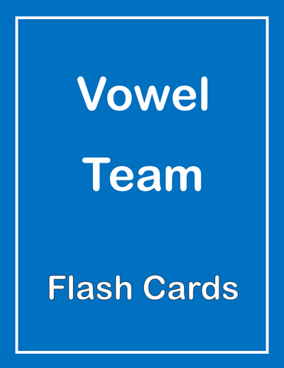 Vowel Team ESL Flash Cards